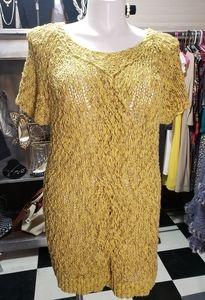 Moth Brand Crochet Sweater Dress Sz XL